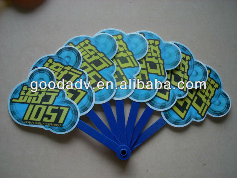 plastic hand fan/ foldable pp fan for promotion gift