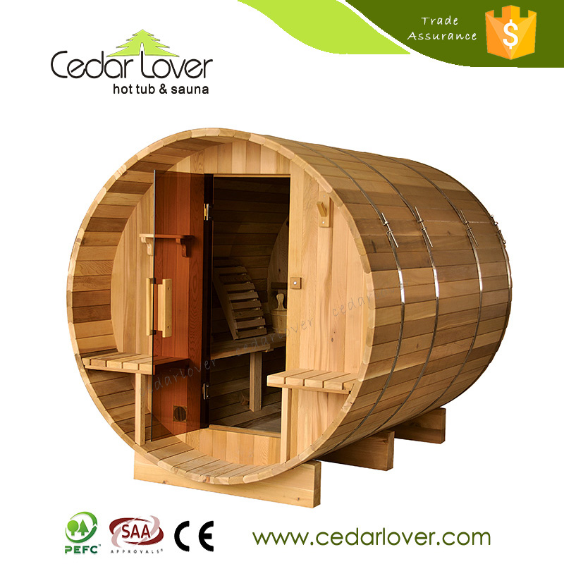 Hot selling luxury Garden Wood fired barrel Steam sauna room