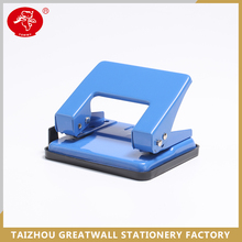 Custom logo paper hole puncher, square shaped 2 holes paper punch