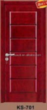 morden fancy polished entry solid wood door W-08