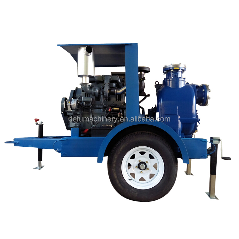 JT- 6 inch non-clog self priming sewage pump for solid handing
