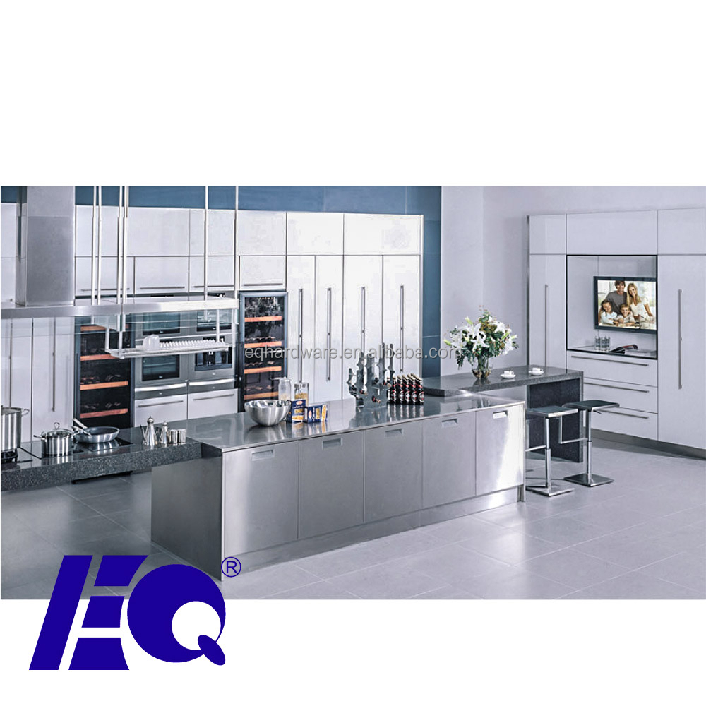 Wholesale Customized low MOQ Cabinet Project OEM Modular Stainless Steel 304 Kitchen for home