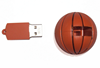 Stock product fast delivery sport event promotion gift pvc material basketball shape 4gb usb flash drive