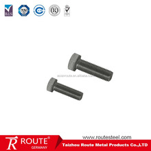 Galvanized scm435 hexagon head bolt grade 8.8 10.9 jis b 1180 all thread