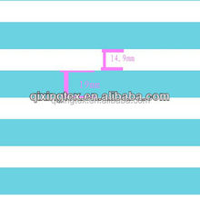 shiny blue and white color stripe spandex printed fabric for underwear