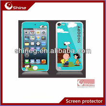 Color shining screen protective film/screen protector with design for ipod touch