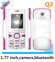 KOMAY 1.77 inch MINI small size mobile phone Q2 with single camera,bluetooth