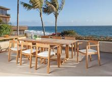 2017 Modern design teak outdoor wood hd design garden dining table furniture