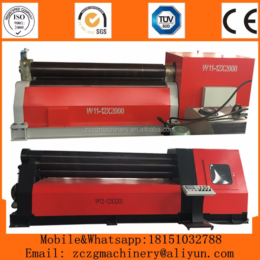 Mechanical 3 rolls sheet plate roll forming machine,<strong>W11</strong> rolling machine supplier