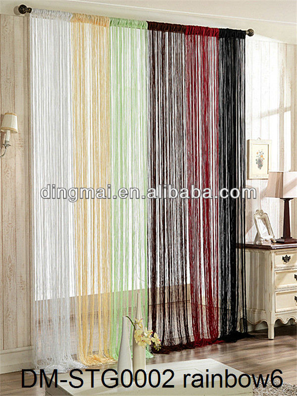 Hight quality home hotel spaghetti string curtain
