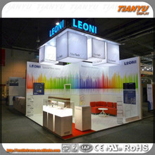 Two-level exhibition stand exhibiton booth with stair