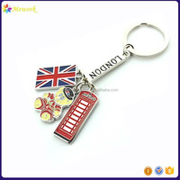 London Flag Tour Gift Keyring Metal Enamel London Souvenir Keychain