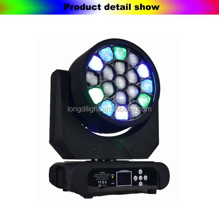 DJ stage lighting 19*10W RGBW 4in1 lighting moving