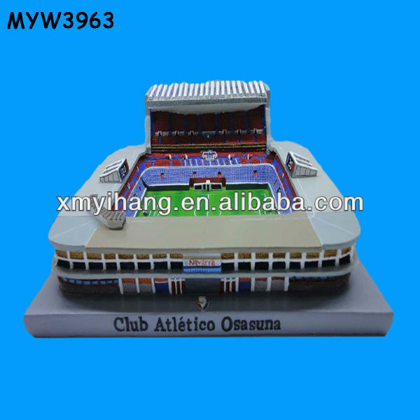 custom miniature tourist stadium polyresin souvenir