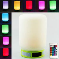 Home use smart music led mood light bluetooth wireless speaker waterproof 2017