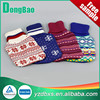 colourful knitted hot water bag cover