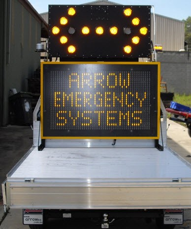 Skid-Mounted Arrow Boards Rigid Skid