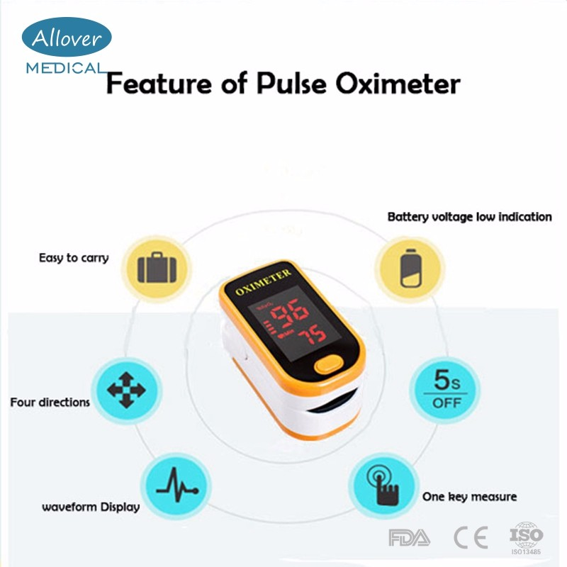 Homecare OLED Display Portable Fingertip Pulse Oximeter SPO2 Monitor