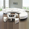 Curved Design Furniture Leather Sofa Sectional
