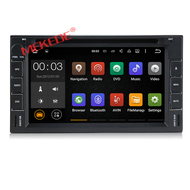 Android 7.1 system universal car redio cassette with gps navigation support mp3 digital TV