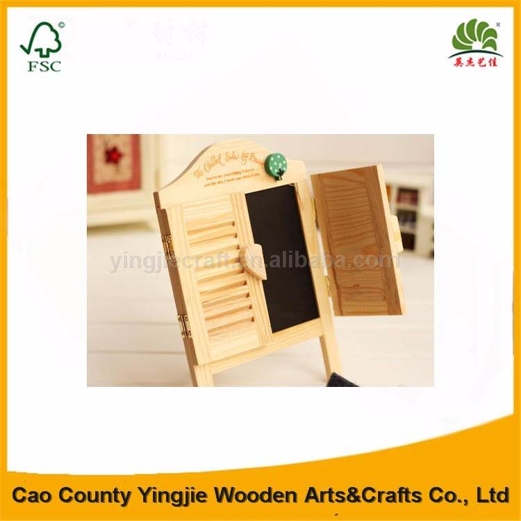 Mini Beautiful Small Advertising Blackboards for Kids Learning, decorative wood sign notice board