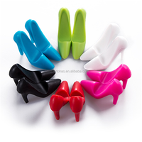High heel shoes shape silicone stand for mobile phone
