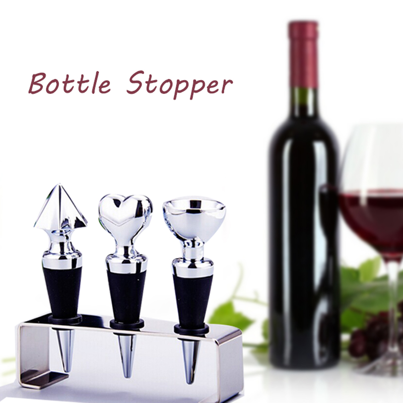 Silicone and Stainless Steel Wine Bottle Stopper