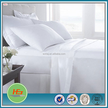 White Double Stitching High Quality Hotel Bed Sheet Fitted Sheet