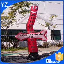 Inflatable 15ft arrow red burger king For Comercial