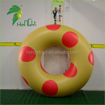 High Quality Custom Made PVC Inflatable Swim Ring/Yellow Inflatable Swimming Ring