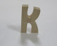2015 hot selling 3d decorative words K wooden letter alphabet