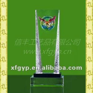 Quality products liuli eagle sculptures daye glass sculpture eagle