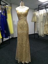 2015 Summer Gold Sequins Illusion Floor Length Mature One Piece Party Women Maxi Dress