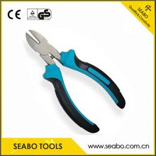 High carbon steel Drop forged hand tool bent nose plier with wooden handle