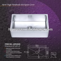 CUPC House star Royal Item, hot sale SS304 Stainless steel sink, handmade sink---APR3020