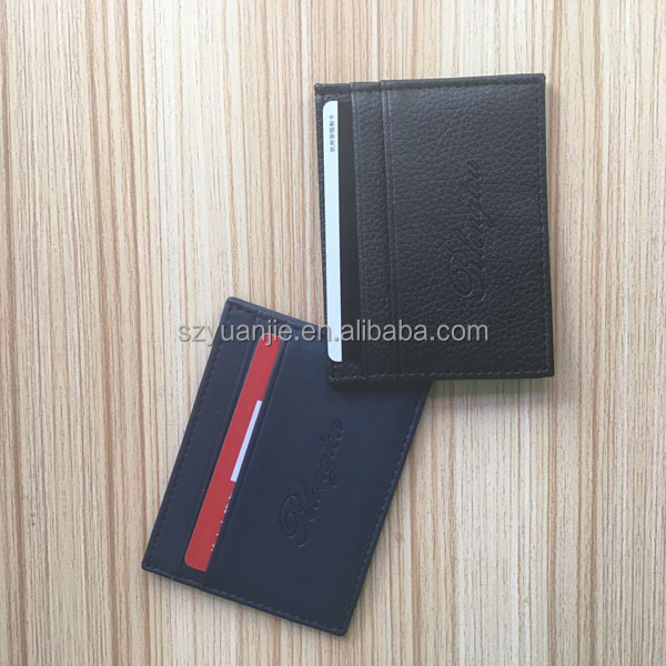 Leather wallet credit card cases