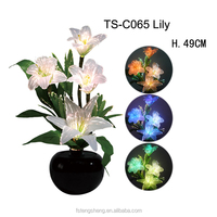 Wholesale Factory Price LED Fiber Optic Color Change Lily Flower Light