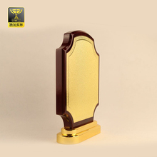 customized wholesale wood design blank gold plaque award