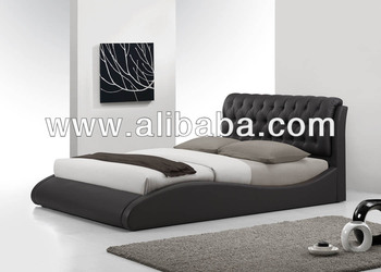 Bedroom Furniture / Faux Leather PU Bed / Shimmon Bed