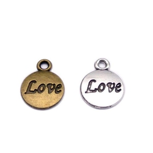 metal factory making alloy charms antique bronze plate jewelry making Custom inspired word plate logo tags charm
