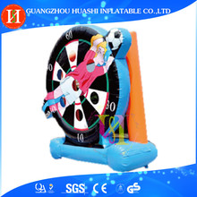 Outdoor Inflatable digital dart board , commercial giant inflatable dart board for adult