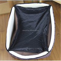 Top quality bottom price check pet bed sheet denim dog beds