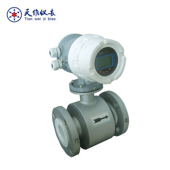 insertion type battery operated electromagnetic digital water flow meter