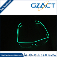 Fashional flashing EL wire led light glasses for Christmas decoration