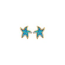 Popular color jewelry sets synthetic star blue opal stud earrings