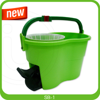TV shopping super dry plastic double mop water clean bucket
