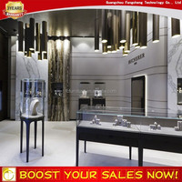 High quality fashion jewelry boutique glass display cabinet showcase