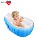 Portable folding inflatable baby spa bathtub