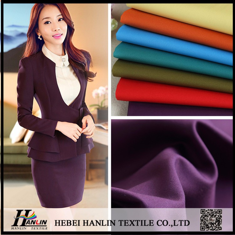 Hot selling basic twill aritcle solid color TR material italian quality men's suit fabric