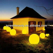 2013 modern cheap waterproof outdoor hot led lighting ball with rechargeable battery&switch control